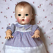 """Darling Print Dimity Dress for 11.5"""" American Character Tiny Tears Baby"""