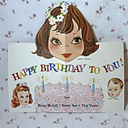 Rare * RARE Tiny Tears American Character Doll BIRTHDAY Card #1