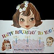 Rare * RARE Tiny Tears American Character Doll BIRTHDAY Card #1