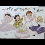1950's RARE American Character Tiny Tears BIRTHDAY Postcard