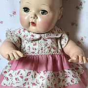 """Vintage Cotton Roses Dress for 11.5"""" to 13.5"""" Tiny Tears / Dy-Dee"""