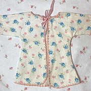 """RARE Effanbee 9"""" Dy-Dee WEE Layette Robe Blue Roses"""