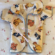 """RARE Effanbee 9"""" Dy-Dee WEE Layette Robe -- Whimsical Print"""