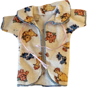 "RARE Effanbee 9"" Dy-Dee WEE Layette Robe -- Whimsical Print"