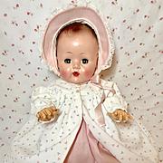 "Darling 1950's Vintage 20"" Tiny Tears Coat and Bonnet Set"