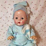 "Winter Flannel Nursery Rhyme Pajamas for Vintage 1950's 20"" Tiny Tears Baby"