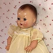 "1950's Sunny Yellow Organdy BABY Dress for 13.5"" Tiny Tears"