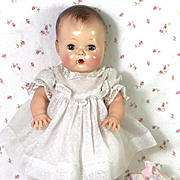 """Vintage Dotted Swiss Party Dress for 13.5"""" Tiny Tears Baby"""