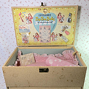 """VERY RARE Vintage Effanbee 20"""" Dy-Dee LOU Baby Doll TRUNK"""