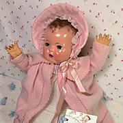 """Vintage RARE GORGEOUS Effanbee 20"""" Dy-Dee Lou Doll Eiderdown Coat / Bonnet Set"""