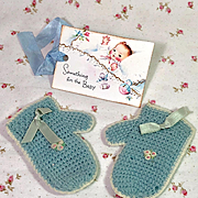 """DARLING Vintage Effanbee 20"""" Dy-Dee Lou Mittens w/ Embroidered Flowers"""