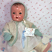 """Vintage 20"""" Effanbee Dy-Dee Lou Sweater Bonnet and Mitten Set"""