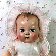 """Vintage 1950 Pre-Patent 15"""" Tiny Tears 1st ISSUE"""