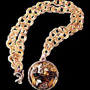 Steampunk Necklace with Fun to Explore Complex Pendant