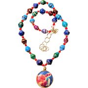 Sea Turtle Necklace with Beads from Africa