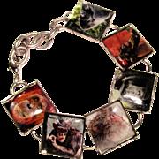 Primate Image Silver Plated Bracelet