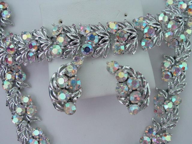 Star Necklace Bracelet Earring AB Parure Fabulous