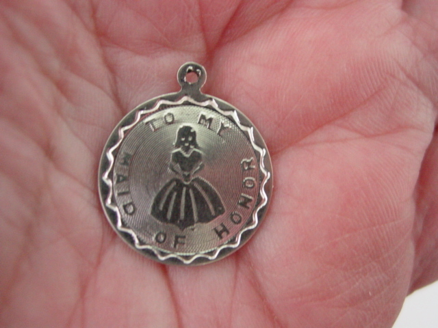SS Charm To My Maid Of Honor Charm Pendant