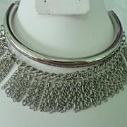 Tube Chain Dangle Choker Necklace