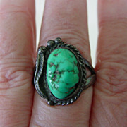 Southwestern Turquoise Sterling Ring