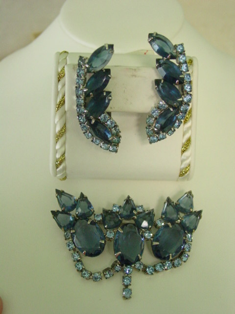 Juliana Big Blue Open Back Rhinestone Demi Parure