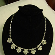 Lovely Elegant Layered Rhinestone Necklace