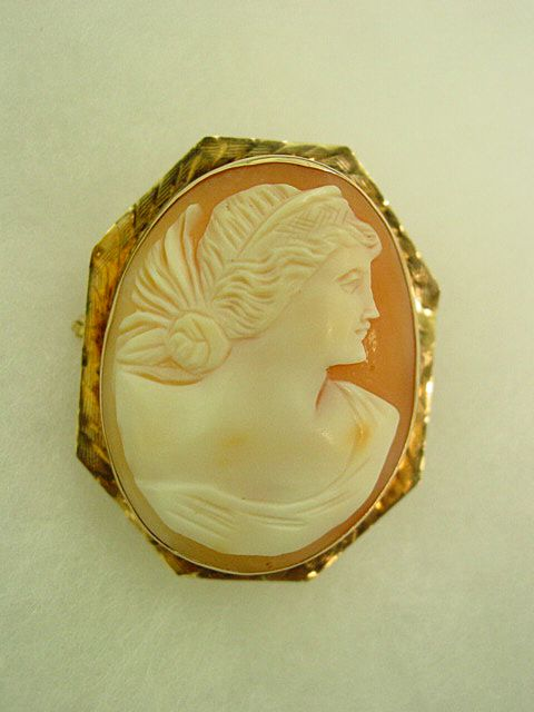Fancy Headdress Cameo Brooch set in 14KT Yellow & Rose Gold
