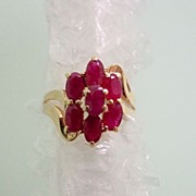 14KT Yellow Gold Ruby Ring