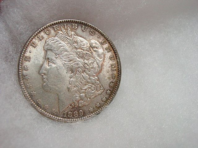 1889  Philadelphia Mint Silver Dollar Coin
