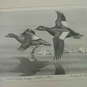 Maynard Reece 1969 First Edition Federal Duck Stamp & Print