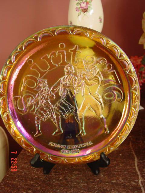 Spirit of 76 Carnival Glass American Bicentennial Plate