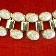 Big Chunky Fake Mabe Pearl Bracelet