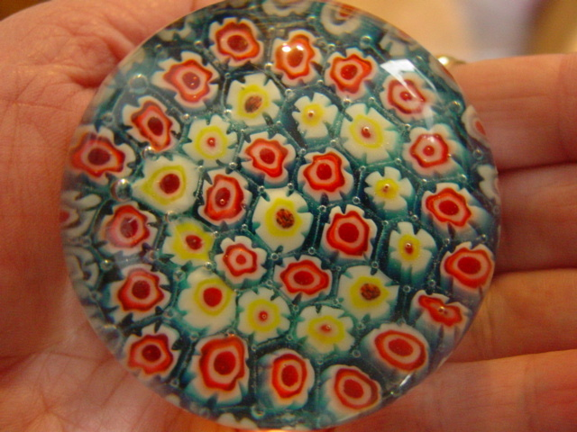 Flower Power Millefiori Paperweight