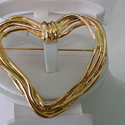 Big Open Heart Pin