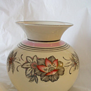 Hertel-Jacob Floral Design Large Porcelain Vase