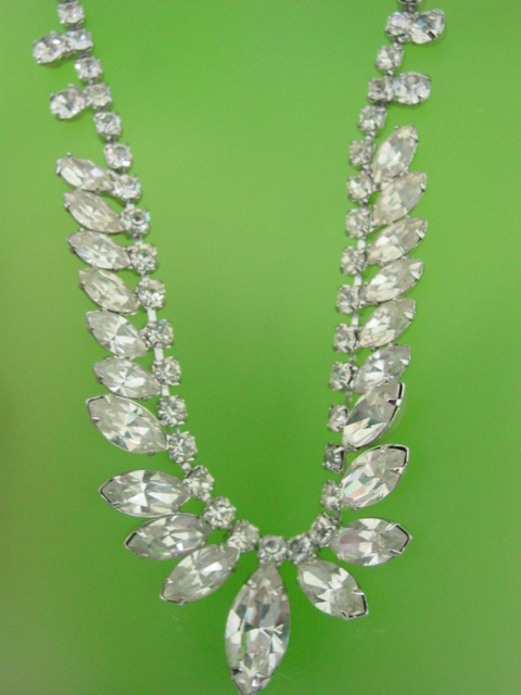 Marquis Rhinestone Necklace
