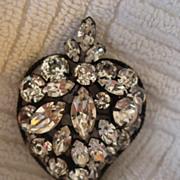 Regency Pin Pendant of Layer Rhinestone Design