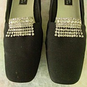 Vintage Pair of Dangle Rhinestones Shoe Clips
