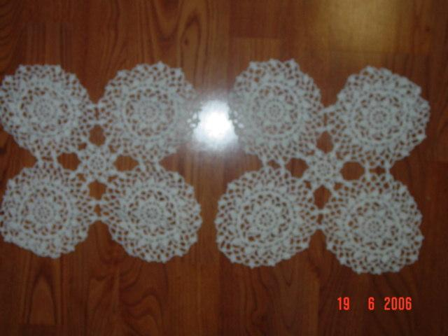 Vintage Crochet Pair of Butterfly Design Doilies