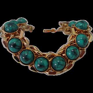 Vintage Faux Turquoise Bracelet