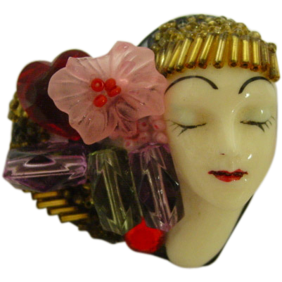 Flapper Girl Pin