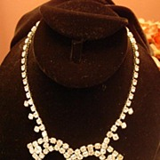 Vintage Festoon Rhinestone Necklace By Gale