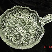 Imperial AB Cut Glass Bowl with Handle