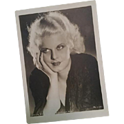 Jean Harlow Original M.G.M. Publicity Portrait Photo Metro Goldwyn Mayer  Photograph Original M.G.   MG11531