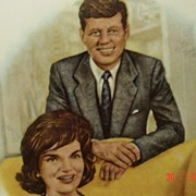 President and Mrs. John F  Kennedy Portrait Plate