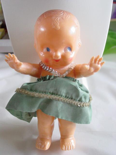 Kewpie Style Doll Powder Dispenser