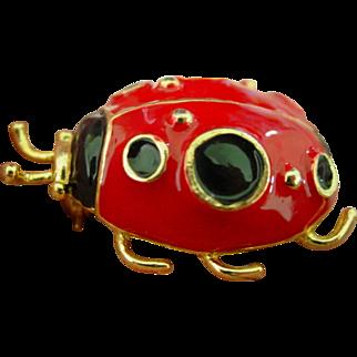 Lady Bug Pin Brooch Big Bold & Beautiful