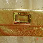 Fold Over Envelope Style Gold Lame Metallic Purse