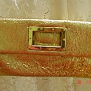 Fold Over Envelope Style Gold Lame Metallic Purse