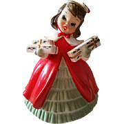 Napco Girl Christmas Planter